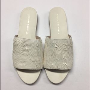Loeffler Randall Feather Leather Ava Sandal Slides